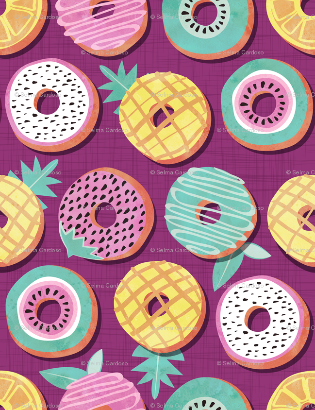 Undercover donuts // disoriented version // pink purple