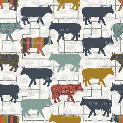 Cow Grid - H White