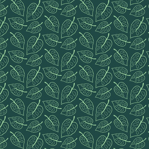 Jungle Leaves in Green