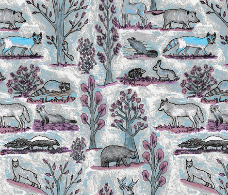 Qc animals fabric by lucybaribeau on Spoonflower - custom fabric