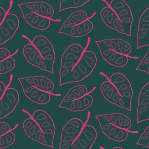 Jungle Leaves in Pink
