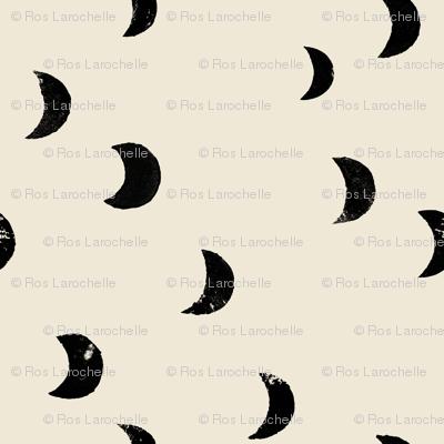 Boho moons crescent moon