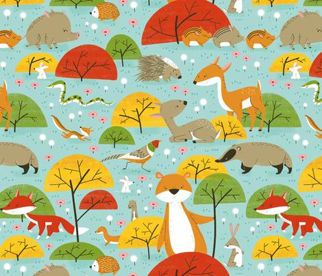 woodland friends fabric by gnoppoletta on Spoonflower - custom fabric