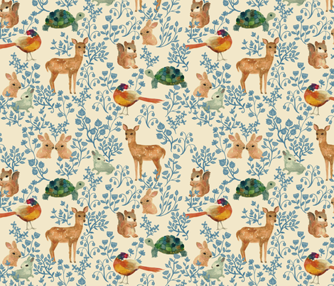 Into the Forest fabric by ceciliamok on Spoonflower - custom fabric