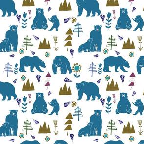 bear and baby bear teal