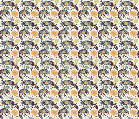 Animals by Land fabric by catalinavillegas on Spoonflower - custom fabric