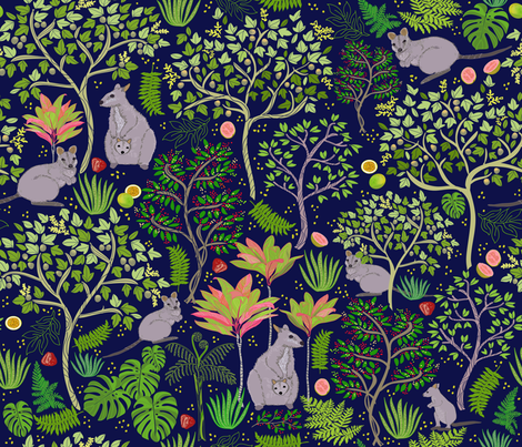 Kalihi Valley Wallabies  fabric by honoluludesign on Spoonflower - custom fabric