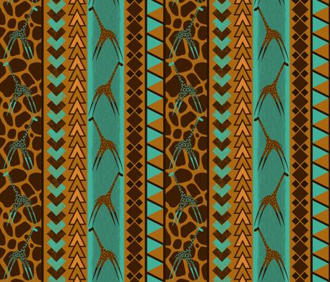 Tribal Giraffe fabric by paulprevel on Spoonflower - custom fabric