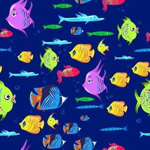 Cute fishes of the ocean