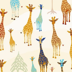 Giraffe of a Different Color - on the sands [medium version]