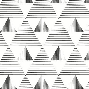 Stripy triangles - black on white
