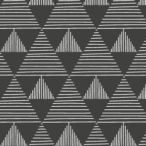 Stripy triangles - white on black