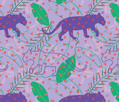 Orson the jaguar-01 fabric by orangepoppydesigns on Spoonflower - custom fabric