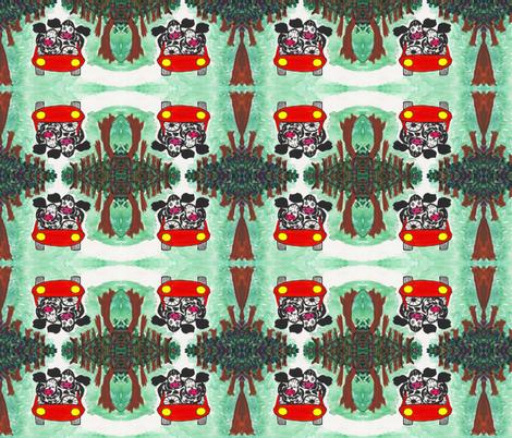 Cow Couple fabric by valerie_d'ortona on Spoonflower - custom fabric