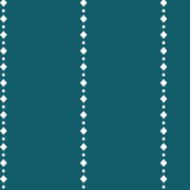 White diamond lines and dark teal background