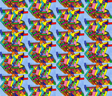 Cow Shapes fabric by valerie_dortona on Spoonflower - custom fabric
