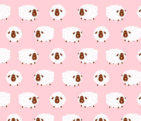 Sheep baby design fabric by yopixart on Spoonflower - custom fabric