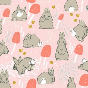 Cottontail Rabbit Kits M+M Icing by Friztin