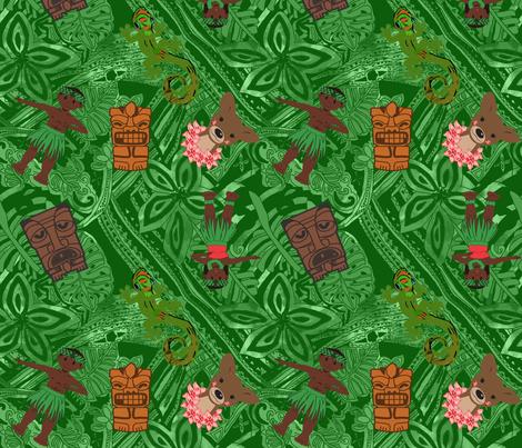 Hawaiian Land Animals fabric by kedoki on Spoonflower - custom fabric