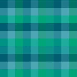Check / Plaid - Turquoise