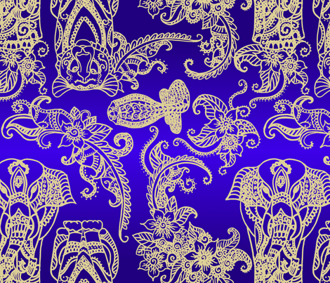 Elephant Tiger Cobra fabric by ladyspring on Spoonflower - custom fabric