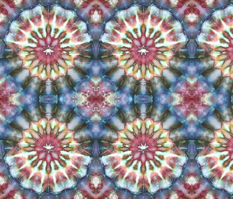 Kaleidoscope Burst Blue & Green fabric by nancygamon on Spoonflower - custom fabric