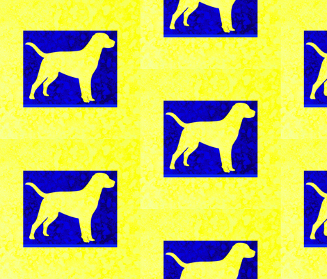 Animals  By Land: Yellow Lab Batik fabric by dovetail_designs on Spoonflower - custom fabric