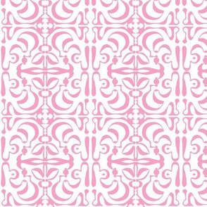 SUNNY SIDE Pink on White