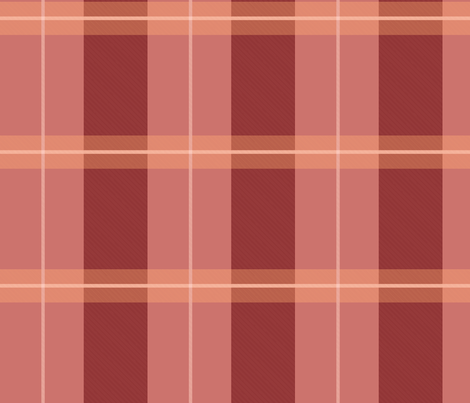 Asagao plaid fabric by maryssaraptor on Spoonflower - custom fabric