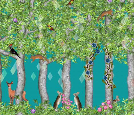 Forest Life fabric by vannina on Spoonflower - custom fabric