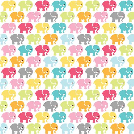 Elephants on parade fabric by ebygomm on Spoonflower - custom fabric