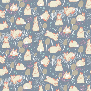 Cottontail Rabbit Kits M+M Smoke by Friztin
