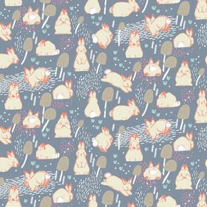 Cottontail Rabbit Kits M+M Smoke by Friztin