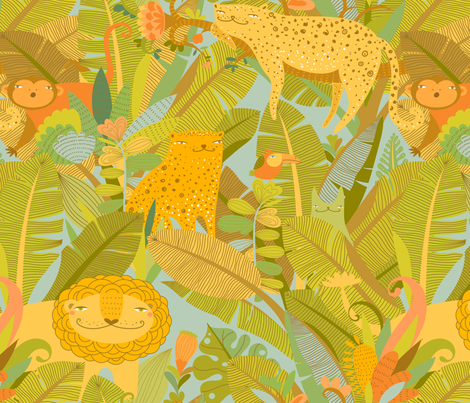 secret jungle fabric by elmira_arts on Spoonflower - custom fabric