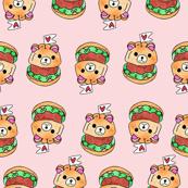 Cute Burger Pink