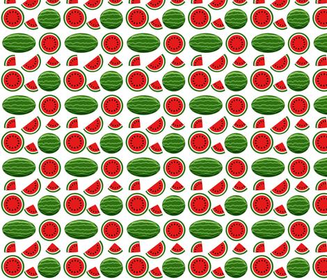 watermelon white 4x4 fabric by leroyj on Spoonflower - custom fabric