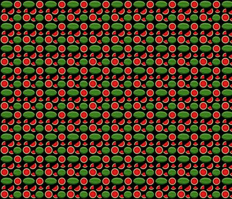 watermelon black 2x2 fabric by leroyj on Spoonflower - custom fabric