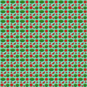 watermelon turquoise 2x2