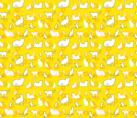 Cats. In Charge. fabric by alohajean on Spoonflower - custom fabric