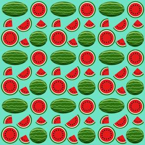 watermelon turquoise 6x6