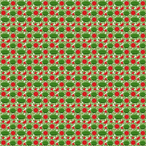 watermelon and vines 2x2