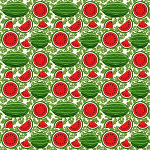 watermelon and vines 6x6