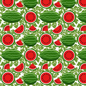 watermelon and vines 8x8