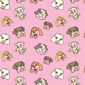 Pink Cute dog