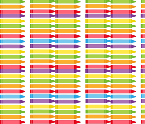 crayons white fabric by feralartist on Spoonflower - custom fabric