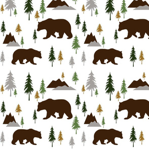 Bears in the Woods Hunting Palette