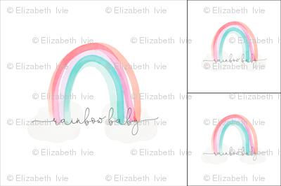 1 blanket + 2 loveys: rainbow baby