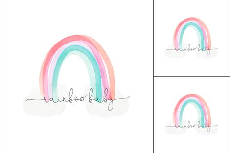 1 blanket + 2 loveys: rainbow baby fabric by ivieclothco on Spoonflower - custom fabric