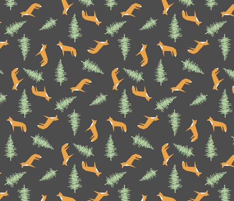 Foxtrot fabric by peachandhoney on Spoonflower - custom fabric