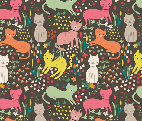 cats fabric by gkumardesign on Spoonflower - custom fabric